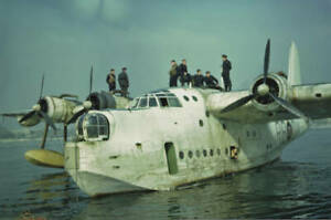 OLD-LARGE-PHOTO-AVIATION-HISTORY-The-RAF-Short-Sunderland-flying-boat-1940-2
