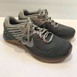 Nike Metcon DSX Flyknit Training Weightlifting Shoes 852930-012 Mens Size 8 EUC