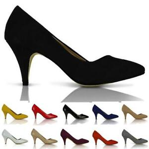 NEW-WOMENS-COURT-SHOES-PUMPS-MID-HEEL-WORK-CASUAL-OFFICE-SIZE-3-8