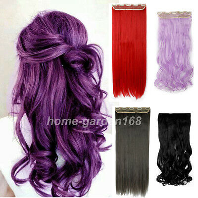 Free Shipping Long Clip in Hair Extensions Brown Blonde Pink Red Halloween hn02