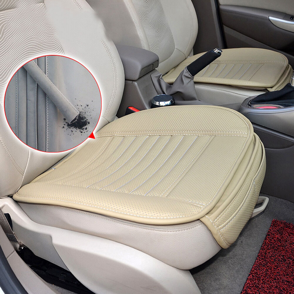 universal pu leather car seats protector mat seat cover pad breathable cushion ebay. Black Bedroom Furniture Sets. Home Design Ideas