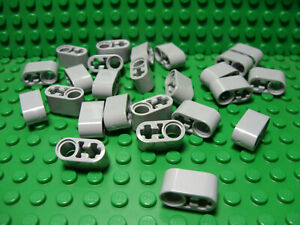 LEGO Lot of 25 Light Bluish Gray Technic  Mindstorms Pin Connector Pieces