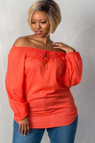 Ladies fashion plus size boho contemporary elastic off the shoulder top