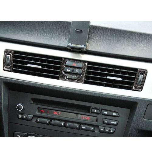 Fit for BMW E90 E92 E93 Carbon Fiber Interior Air Conditioner Outlet Trim Cover