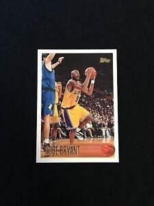 KOBE-BRYANT-1996-97-TOPPS-ROOKIE-CARD-RC-138-CENTERED-Lakers-READ