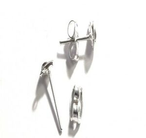 Image Is Loading 100 Sets Of Silver Plated Half Ball Studs