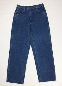 Enrico-coveri-jeans-uomo-usato-w32-tg-46-denim-boyfriend-vintage-blu-slim-T3171