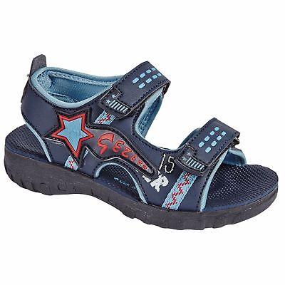 Boys Kids Children Sandals Double Starp Walking Sports Beach Mules Shoes Size