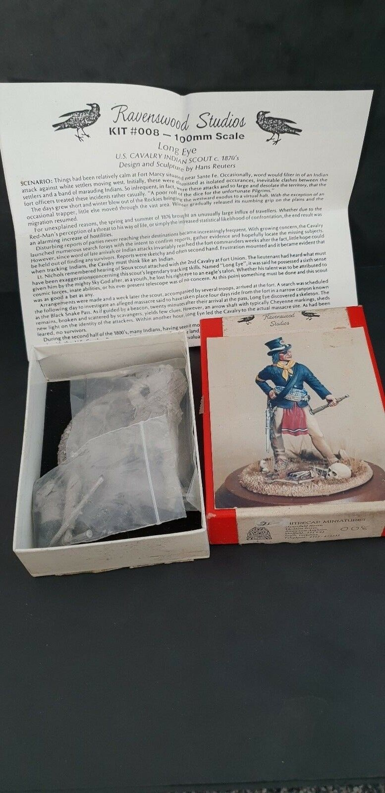 Ravenswood Studios US Cavalry Indian Scout c1870 100mm