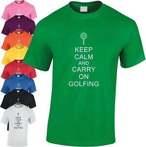 Keep-Calm-et-de-Transport-Golf-Enfants-T-Shirt-Refroidir-Golfeur-Cadeau
