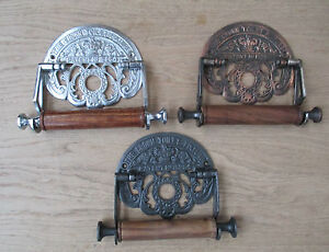 CROWN -Vintage Antique Victorian old Period bathroom Toilet Roll Holder Ornate