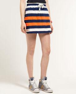 New Womens Superdry 60s Ship Skirt Whisper White