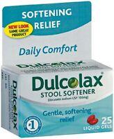 4 Pack - Dulcolax Stool Softener Liquid Gels 25 Liquid Gels Each