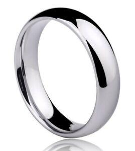 Anello-Fede-Fedina-Fidanzamento-Argento-925-Uomo-Donna-semplice-francesina