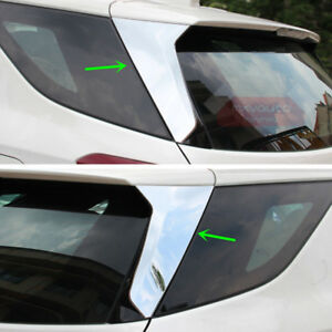 2x Chrome Rear Window Lid Decorative Cover Trim For Chevrolet Equinox 2018-2020