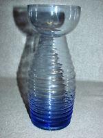 ?WMF? Kristallglas Vase 50er Jahre Hyazinthen Vase Design Wagenfeld Ära, Blau