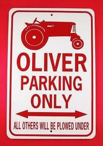 OLIVER PARKING ONLY  12X18 Aluminum Tractor Sign  Won't rust or fade