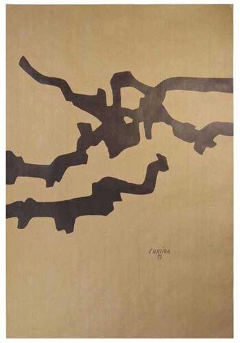 Litografia sobre papel de embalar 80x55 cm EDUARDO CHILLIDA Composicion