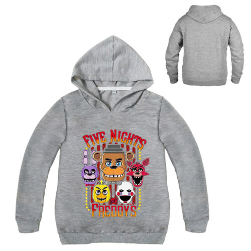 Boys Girls Five Nights at Freddy/'s Kids Sweatshirts Hoodies Spring Fall Clothing