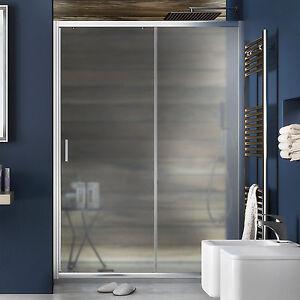 Porta box doccia cabina 120 cm nicchia scorrevole vetro opaco 185 h reversibile ebay - Vetro doccia scorrevole ...