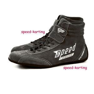 Speed-Kartschuhe-Grau-San-Remo-KS-1-Kart-Motorsport-Schuhe-Karting-Shoes