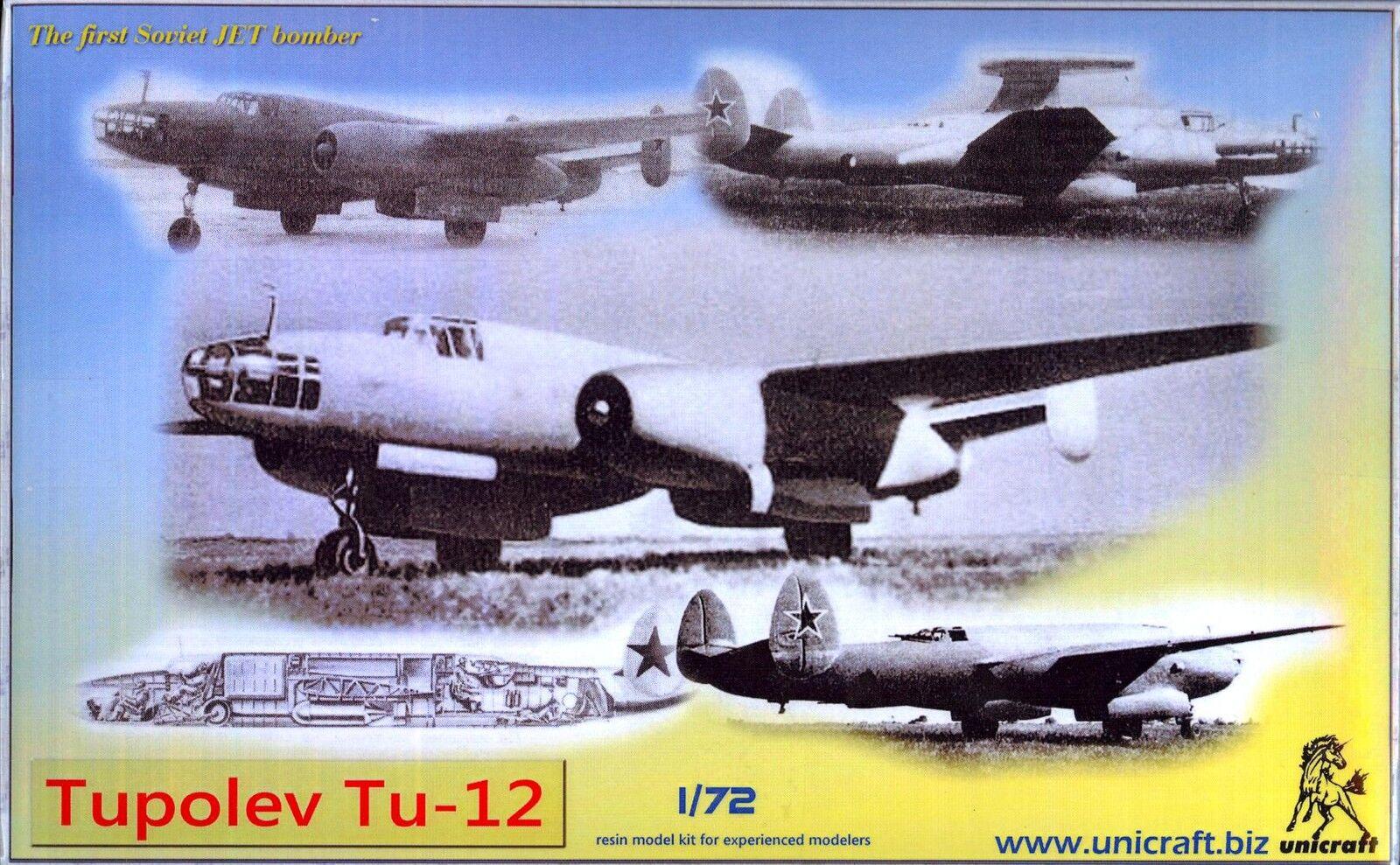 Unicraft Models 1 72 TUPOLEV Tu-12 Soviet Jet Bomber Project