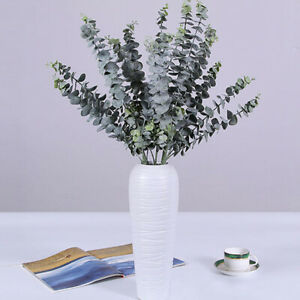 Artificial-Fake-Silk-Flower-Eucalyptus-Plant-Green-Leaves-Hotel-Home-Decor-Bland