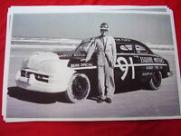1949 ? Lincoln Daytona Race Car On Beach With Driver 11 X 17 Photo Picture