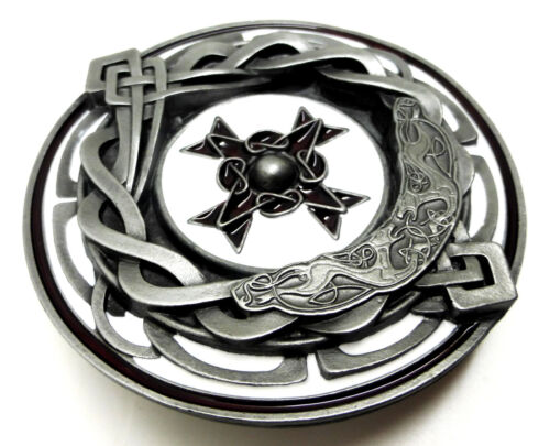 Cross Belt Buckle 3D Circular Authentic Bulldog Buckle Co Product Celtic Knot