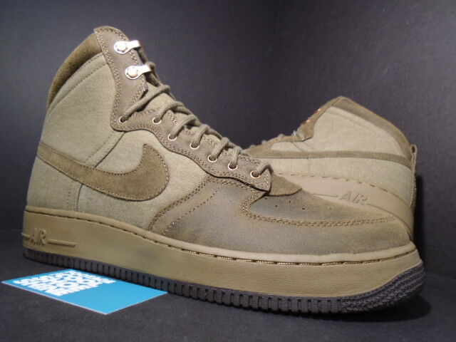 NIKE AIR FORCE 1 HI DECONSTRUCT MILITARY avvio RAW UMBER verde nero OLIVE 12.5