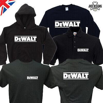 DEWALT Power Tools Logo Men/'s Black Hoodie