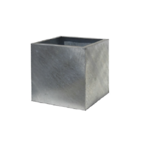 90cm Clearance Galvanised Steel Cube Planter Metal Garden Plant Pot Box Ebay