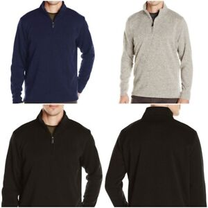 Men-039-s-Wrangler-Quarter-Zip-Knit-Fleece-Sweater-Jumper-Sweatshirt