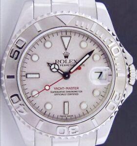 ROLEX-Mens-Platinum-amp-SS-YachtMaster-Platinum-Dial-16622-SANT-BLANC