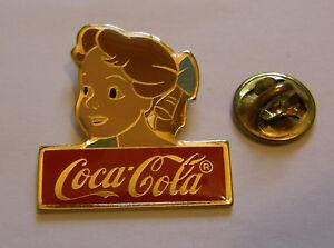 DISNEY-COCA-COLA-WENDY-DARLING-PETER-PAN-vintage-pin-badge