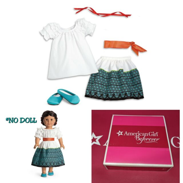 NIB American Girl Doll Josefina Dress and Vest Shoes