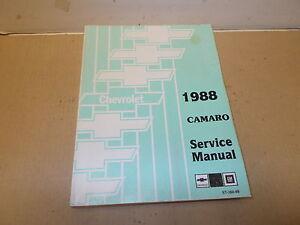 chevrolet camaro 1988 service manual ebay rh ebay com 1990 Camaro 1990 Camaro