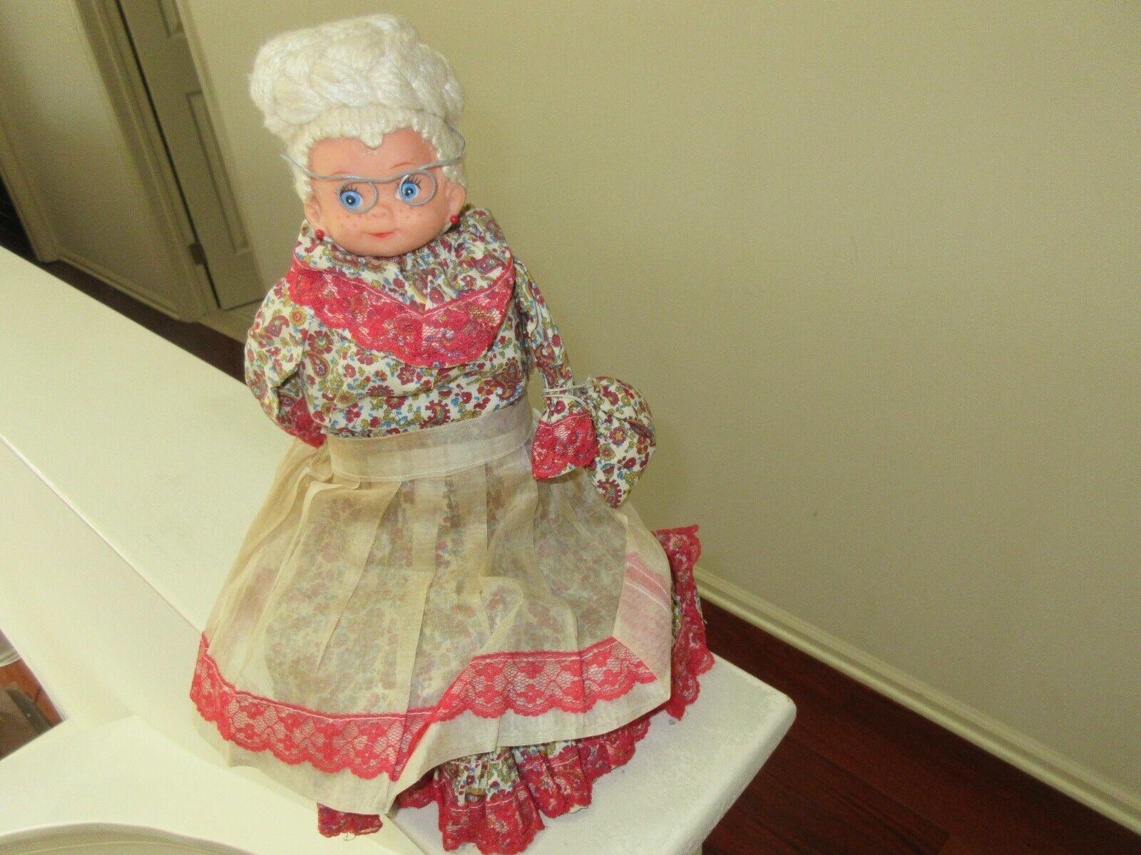 Doll , Weighted ,  Land Grandma ,  Jahr,  Handmade Doorstop , Mid Century