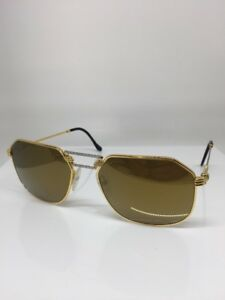 New FRED Lunettes Cap Horn Sunglasses Force 10 22kt Gold Plated Gold ... e748d88ed774