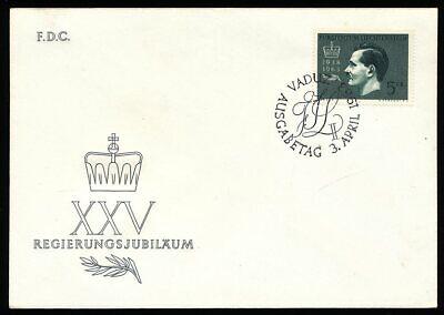 Liechtenstein Fdc Nr.427 25 Sanft 290186 Thornjubiläum Franz Josef Ii