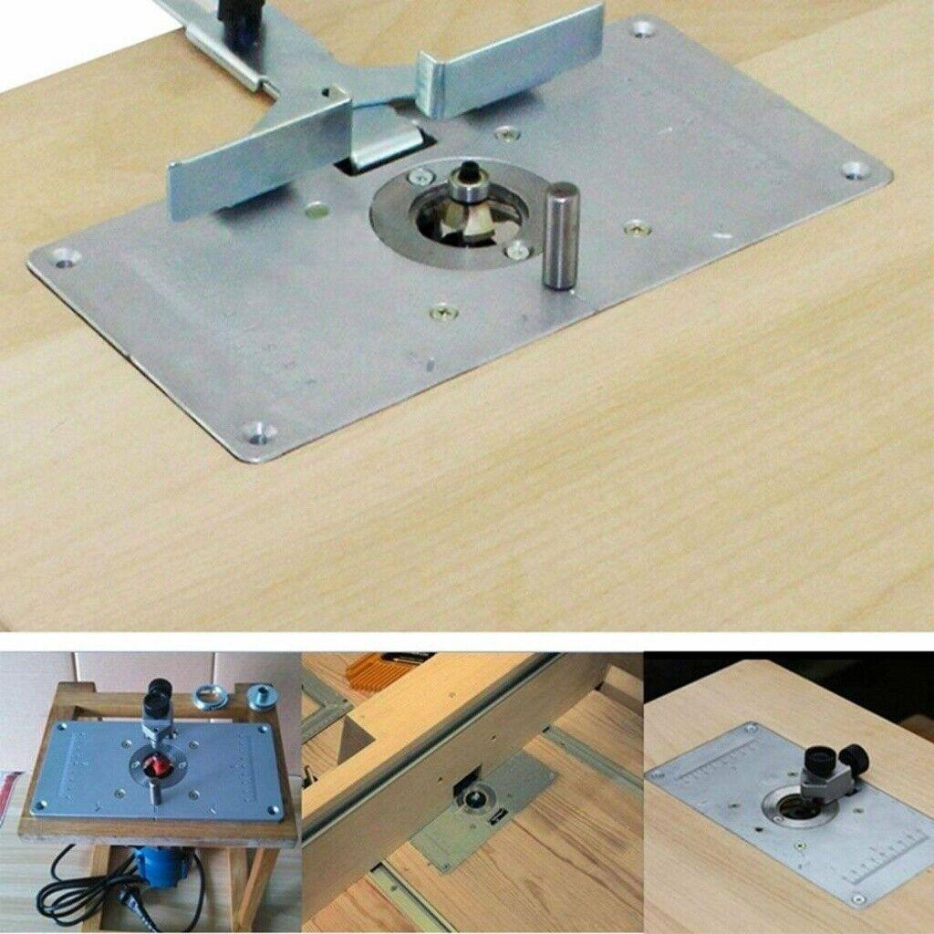 Rockler Router Table Insert Panel 11 X 8 Blue Aluminum Multiple Mounting For Sale Online Ebay