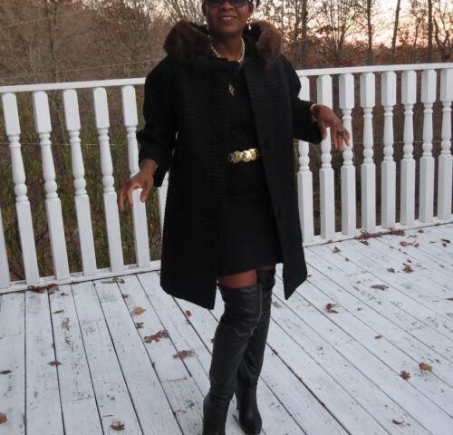 Designer vintage Black Mod Princess Lilli Ann Mink