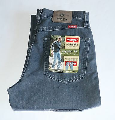 New Wrangler Regular Fit Jeans All Men`s Sizes Grey Stone Color Free Shipping