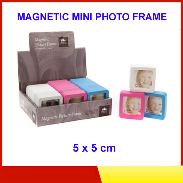 Magnetic Mini Photo Frame in 1 of 3 Colours - Frames Fridge Magnets ...