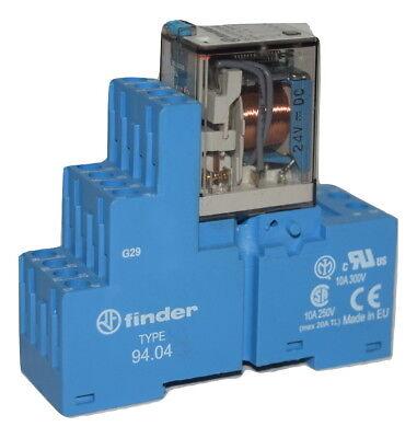 Details about  /Finder 55.34.9.024.0040 Relay W// 94.04 Socket /& 99.02.9.024.99 LED Indicator