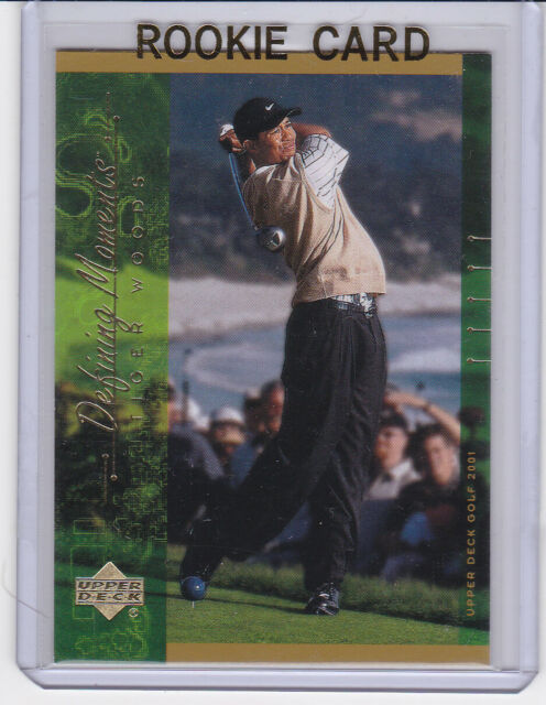 Tiger Woods Rookie Card 2001 Upper Deck Golf Pga Defining Moments Rc