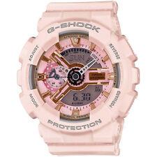 G-Shock Womens Pink Watch GMAS110MP-4A1 Resin Band Analog Digital Mens Gold Pink
