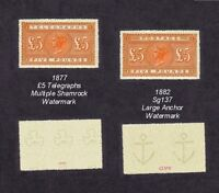 Queen Victoria £5 Orange & 1877 £5 Orange Telegraphs Issue (forgeries)