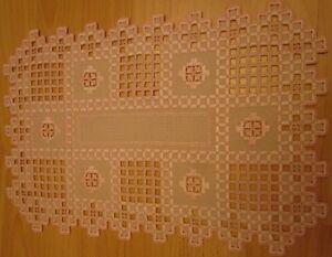 Tischdecken Hardanger Handarbeits SONDERPREIS!! 1VE=2 Stück ca.40x40cm.