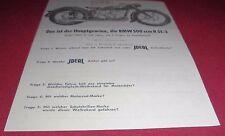 blatt alt ideal motorrad brille fahrer wettbewerb bmw r51-3 1952 reklame werbung